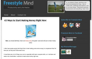 http://freestylemind.com/43-ways-to-start-making-money-right-now
