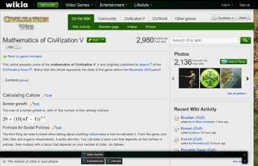 http://civilization.wikia.com/wiki/Mathematics_of_Civilization_V