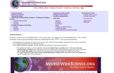 http://worldwidescience.org/help.html#general
