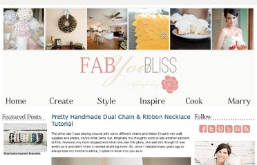 http://fabyoubliss.com/2012/03/08/pretty-handmade-dual-chain-ribbon-necklace-tutorial/