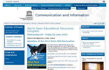 http://www.unesco.org/new/en/communication-and-information/events/calendar-of-events/events-websites/World-Open-Educational-Resources-Congress