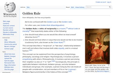 http://en.wikipedia.org/wiki/Golden_Rule