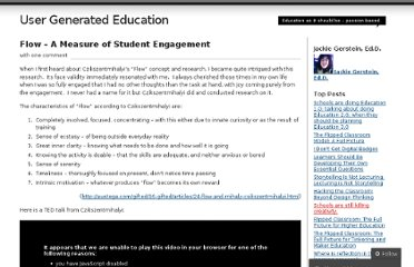 http://usergeneratededucation.wordpress.com/2011/01/12/flow-a-measure-of-student-engagement/
