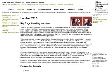 http://www.rgs.org/OurWork/Schools/Teaching+resources/Key+Stage+3+resources/London+2012/London+2012.htm
