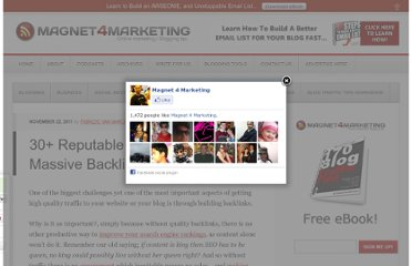 http://www.magnet4marketing.net/2011/11/22/30-reputable-places-to-get-massive-backlinks-to-your-blog/