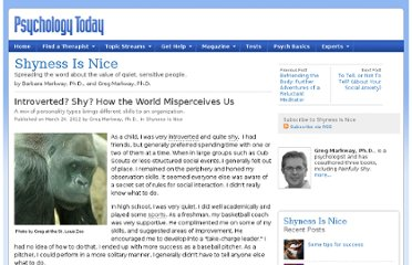 http://www.psychologytoday.com/blog/shyness-is-nice/201203/introverted-shy-how-the-world-misperceives-us