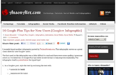 http://ansonalex.com/infographics/16-google-plus-tips-for-new-users-google-infographic/