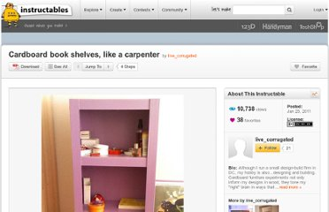 http://www.instructables.com/id/Cardboard-book-shelves-like-a-carpenter/