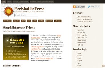 http://perishablepress.com/stupid-htaccess-tricks/