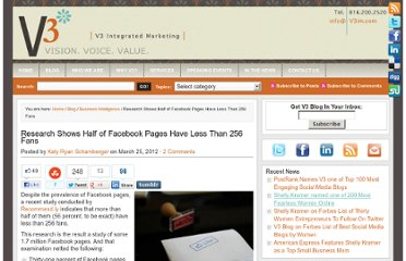 http://www.v3im.com/2012/03/research-shows-half-of-facebook-pages-have-less-than-256-fans/#axzz1q82EBXv8