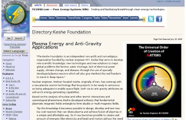 http://peswiki.com/index.php/Directory:Keshe_Foundation