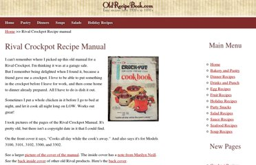 http://oldrecipebook.com/Rival-Crockpot-Recipes.shtml