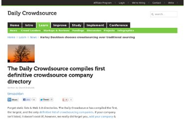 http://dailycrowdsource.com/crowdsourcing/news/281-the-daily-crowdsource-compiles-first-definitive-crowdsource-company-directory