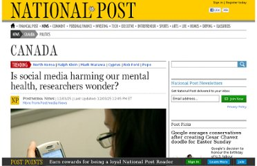 http://news.nationalpost.com/2012/03/25/is-social-media-harming-our-mental-health-researchers-wonder/