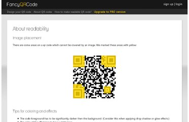 http://www.fancyqrcode.com/how-to-make-readable-qr-code