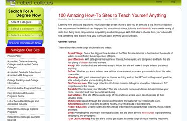 http://www.ratedcolleges.com/blog/2009/100-amazing-how-to-sites-to-teach-yourself-anything/