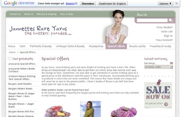 http://www.jannettesrareyarns.co.uk/special-offers.html