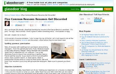 http://www.glassdoor.com/blog/common-reasons-resumes-discarded/
