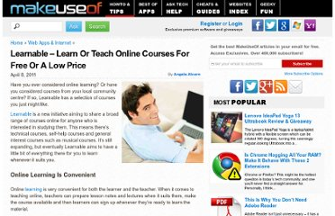 http://www.makeuseof.com/tag/learnable-learn-teach-online-courses-free-price/