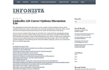 http://www.infonista.com/2011/linkedin-lis-career-options-discussion-list/