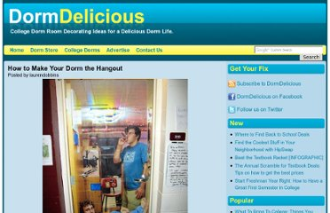 http://www.dormdelicious.com/dorms/how_make_your_dorm_hangout