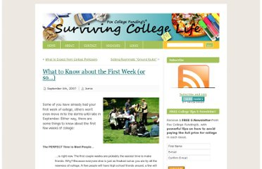 http://www.survivingcollegelife.com/2007/09/06/what-to-know-about-the-first-week-or-so%e2%80%a6/