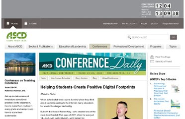 http://www.ascd.org/conferences/conference-daily/ac12/digital-footprints.aspx