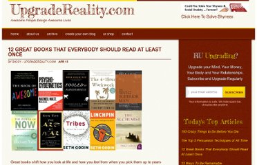 http://www.upgradereality.com/great-books-to-read/