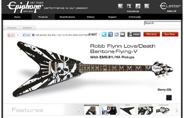 http://www.epiphone.com/Products/Designer/Robb-Flynn-Love-Death-Baritone-Flying-V.aspx