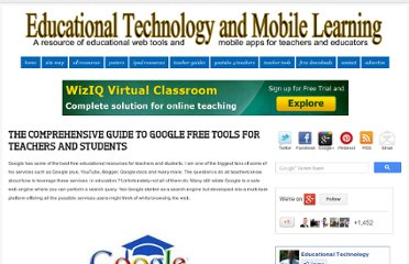 http://www.educatorstechnology.com/2012/03/comprehensive-guide-to-google-free.html