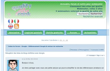 http://forum.webmaster-rank.info/referencement-google/recuperer-des-listes-de-blogs-dofollow-avec-google-t3722.html