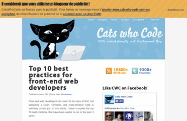 http://www.catswhocode.com/blog/top-10-best-practices-for-front-end-web-developers