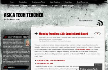 http://askatechteacher.wordpress.com/2012/03/26/monday-freebies-39-google-earth-board/#