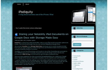 http://ipadiquity.com/2012/02/29/storing-your-notability-ipad-documents-on-google-docs-with-smestorage/