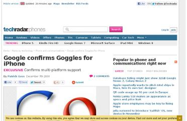 http://www.techradar.com/news/mobile-phones/phone-and-communications/internet/google-confirms-goggles-for-iphone-656489