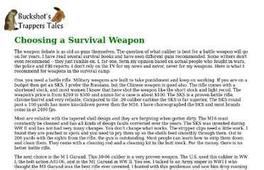 http://www.survival-center.com/buckshot/weapons.htm