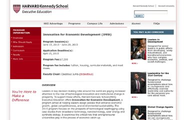 http://ksgexecprogram.harvard.edu/Programs/ifed/overview.aspx