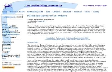 http://www.boatbuilding.com/article.php/MarineSanitationFactvsFolklore