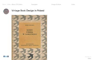 http://50watts.com/Vintage-Book-Design-in-Poland