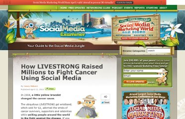 http://www.socialmediaexaminer.com/how-livestrong-raised-millions-to-fight-cancer-using-social-media/