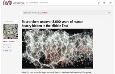 http://io9.com/5896491/researchers-uncover-8000-years-of-human-history-hidden-in-the-middle-east