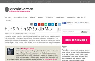 http://www.ronenbekerman.com/hair-fur-in-3d-studio-max/