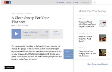 http://www.npr.org/2012/03/22/149146458/a-clean-sweep-for-your-finances