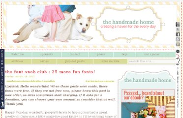 http://www.thehandmadehome.net/2012/03/the-font-snob-club-25-more-fun-fonts/