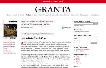 http://www.granta.com/Archive/92/How-to-Write-about-Africa/Page-1