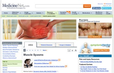 http://www.medicinenet.com/muscle_spasms/article.htm