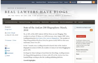http://kevin.lexblog.com/2010/03/11/state-of-the-amlaw-200-blogosphere-march-2010/