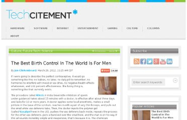http://techcitement.com/culture/the-best-birth-control-in-the-world-is-for-men/