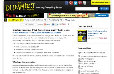 http://www.dummies.com/how-to/content/understanding-vba-functions-and-their-uses.html
