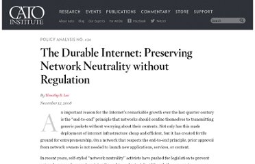 http://www.cato.org/publications/policy-analysis/durable-internet-preserving-network-neutrality-without-regulation